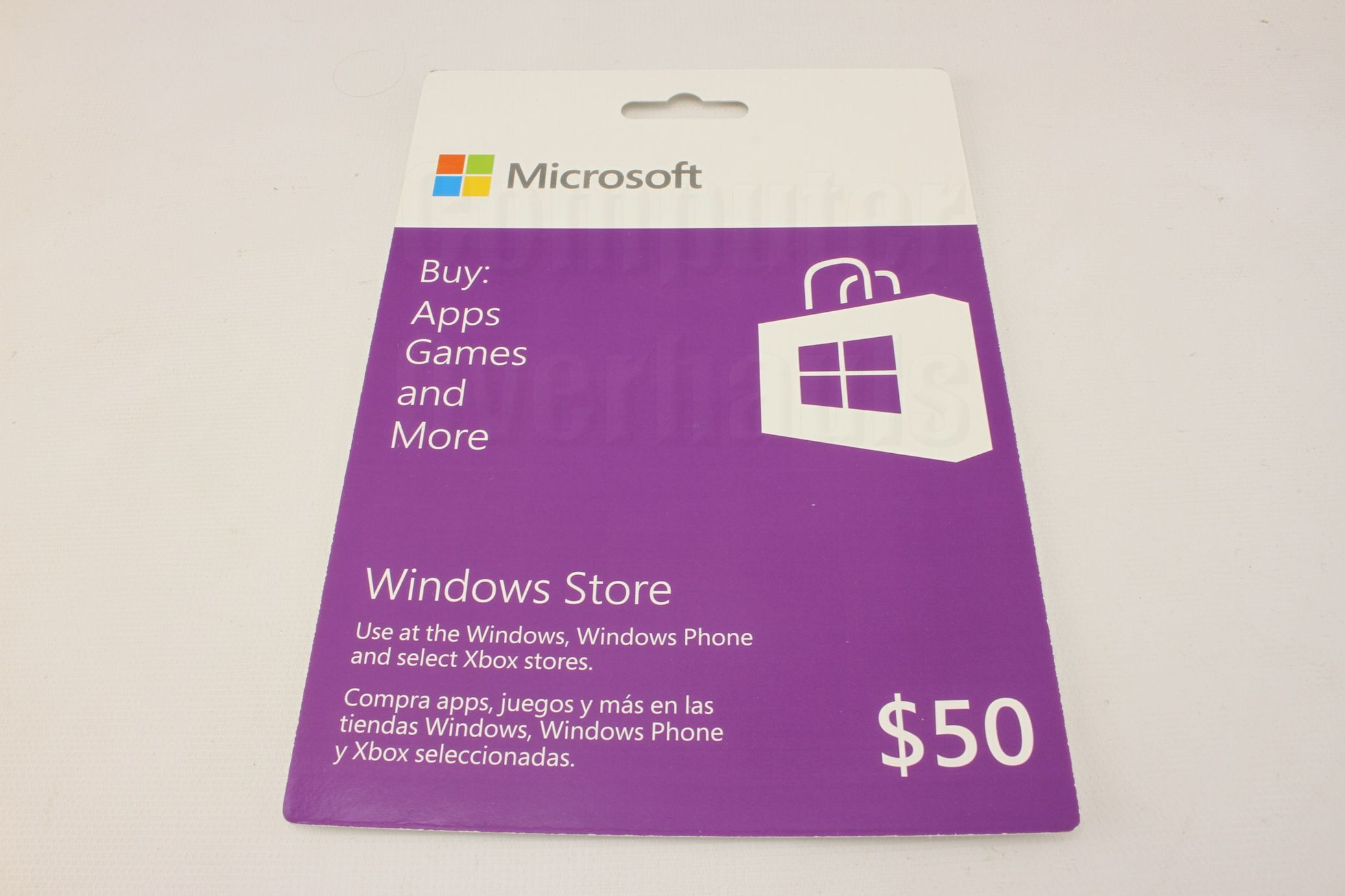 Microsoft Windows Store 50 Gift Card Windows 8 1 PC Windows Phone XBox ...